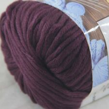 1BallX50g Special Thick Worsted 100% Cotton HAND Knitting Yarn 26 Burgundy