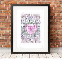 GUNS n' ROSES ❤ November Rain ❤ lyrics poster art limited edition print #112