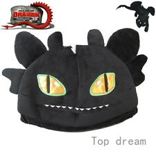 Toothless How to Train your Dragon 2 Night Fury Figure Plush Hat Cap NWT