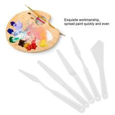 White Plastic Mix Palette Knife Scraper Set Spatula For Oil Painting Accessories