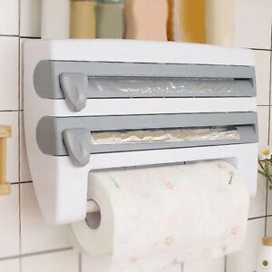 Wall Mount Kitchen Roll Dispenser Plastic Wrap Film Foil Paper Rack Paper Holder