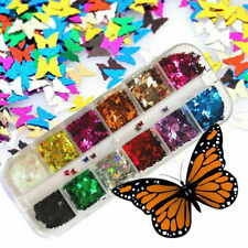 3D Butterfly Laser Flakes Nail Glitter Sequins Holographic Nail Art Decoration