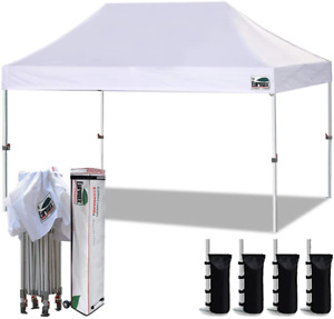 Eurmax 10'x15' Ez Pop Up Canopy Tent Commercial Instant Canopies with Heavy Duty