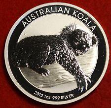 2012 AUSTRALIAN  KOALA DESIGN 1 oz .999% SILVER ROUND BULLION COLLECTOR COIN