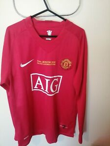Unofficial Manchester United 2008 Champions League Shirt with Ronaldo Printing