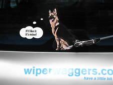 GERMAN SHEPHERD DOG STICKER WITH WIPER WAGGING TAIL FOR CAR REAR WINDSCREEN