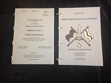 CLANSMAN VOICE PROCEDURE AND CALL SIGN PAMPHLETS NORTHERN IRELAND FALKLANDS