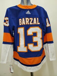 New Mathew Barzal Adidas New York Islanders Jersey size LARGE (52) blue