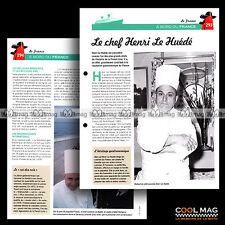#clf114.009 ★ PAQUEBOT FRANCE : LE CHEF DE CUISINE HENRI LE HUEDE ★ Fiche Marine