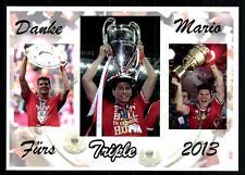 Mario Gomez Autogrammkarte Triple Sieger 2013  Danke Mario
