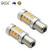 Gex 2 X BAU15S 105 LED Amber Indicator Signal Light Bulb No Hyper Flash PY21W AU