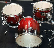 PDP by DW Jungle Shellset Concept Maple Red to Black Sparkle Schlagzeug Drumset