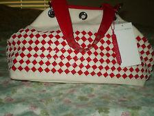 Francesco Biasia Red/Cream Checkered Handbag