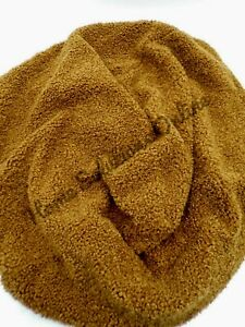 Pottery Barn Cozy Teddy Faux Fur Pouf Slipcover ONLY Soft Plush Tabacco #1976