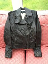 All Saints Women's Hampton Leather Biker Jacket Size 12Originally £275
