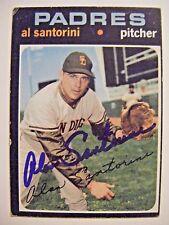 Al Santorini signed Padres 1971 Topps baseball card Auto #467 Braves Cardinals