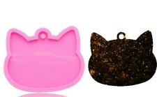 CAT HEAD SILICONE MOULD-RESIN FACE PENDANT/ICING/FIMO MOLD/KEYCHAIN-CATS