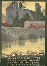 Original Vintage Poster - Geo Dorival - Vendee - Clisson - Atlantic Ocean - 1912