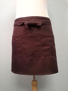 Serving Apron, Coffee with 4 pockets, Thick waist band.