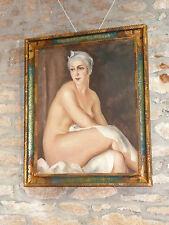 Tableau de Gustave Astoy huile toile Peinture peintre portrait table painting