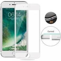iPhone 6 6S 7 - 4D FULL COVER TEMPERED GLASS SCREEN PROTECTOR 9H HARDNESS WHITE