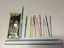 Aluminum Crochet Hooks Needles Knit 22pcs Set Weave Craft Yarn, sock pins etc
