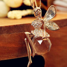 Chain For Butterfly Angel Fairy Women Sweater Necklace Wings Jewelry Crystal