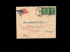 USA WWI Patriotic Cleveland MO 1917 Liberty Loan Auxiliary Flag Sticker Cover 9i