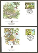 1989   COOK ISLANDS  -  4 x WWF FIRST DAY COVERS  -  BIRDS