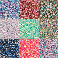 4-10mm No Hole Multicolor ABS Pearl Round Beads Accessories Jewellery Making DIY
