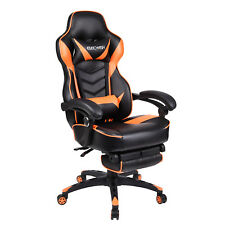 Racing Style Gaming Chair High Back Office Leather Ergonomic Seat w/ Footrest