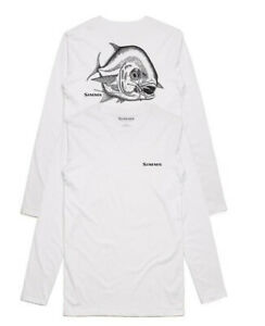 Simms Fishing Hackett Pen Permit L/S Moisture Wicking Tech Shirt - Choose Size