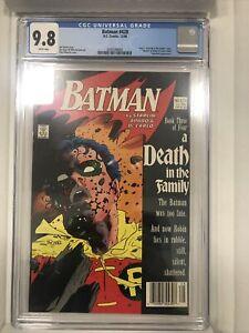 Batman 428 CGC Graded 9.8 NM/MT Newsstand Death Of Jason Todd DC Comics 1988