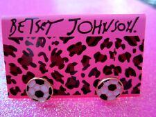 Betsey Johnson Soccer Ball Stud Earrings