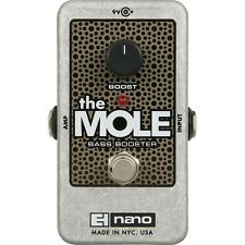 Electro-Harmonix The Mole Bass Booster Effect Pedal +Picks
