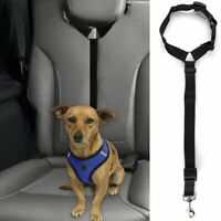 Dog Pet Safety Seat Belt Strap Car Headrest Restraint Vehicle Adjustable Nylon