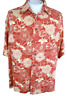CARIBBEAN men Hawaiian ALOHA shirt L pit to pit 26 rayon tropical floral luau