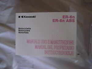 KAWASAKI ER-6n ABS HANDBUCH BEDIENUNGSANLEITUNG BETRIEBSANLEITUNG 2008