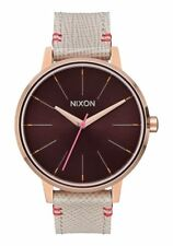 Nixon Kensington Leather Watch Rose Gold/Brown NEW in box