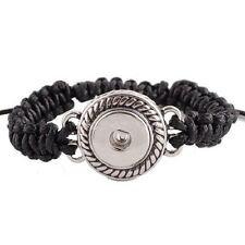 Fits Ginger Snaps SNAP Black SHAMBALA BRACELET Interchangeable JEWELRY 18mm