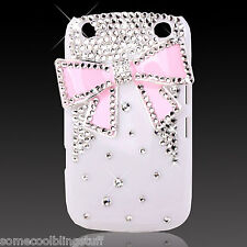 COOL SPARKLE BLACK WHITE PINK DESIGNER DIAMANTE CASE FOR BLACKBERRY 9320 9330 UK