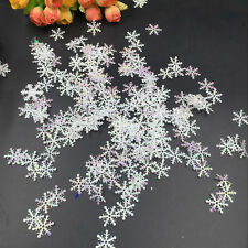 300Pcs Christmas Snowflakes Ornaments Festival Party Xmas Tree Hanging Decor