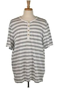 Merona Men Tops Henley Shirts XXL White Cotton