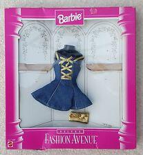 BARBIE Mattel Fashion Avenue Model 14673 Dress Denim Blue Gold  3+Yrs Incomplete