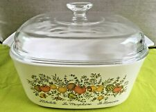 Spice Of Life 5 Quart Corning Ware Casserole Baking Dish With Lid Preowned