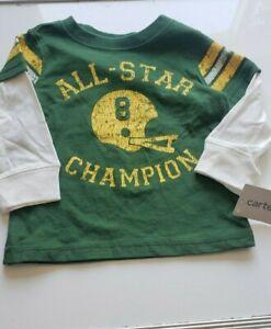ALL-STAR champion baby shirt 9months , green , long sleeve
