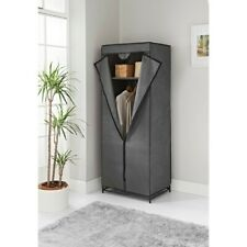 House & Home Double Canvas Wardrobe. Black. Used. VGC. Boxed. Smoke Free Home.