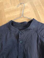 H&M, Hemd/Bluse, Gr. 40, grau, asiatischer Stehkragen, Baumwolle