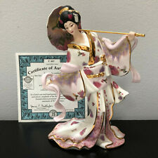 "Bradford Exchange Heavenly Maiden Silken Whispers Geisha Girl 8.5"" Figurine"