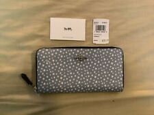 New with Tags Coach Ditsy Star Print Zip Around Wallet